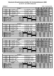 Deutsche Einzelmeisterschaften für Verbandsklassen 2009