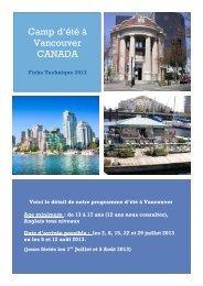 Camp d'été à Vancouver CANADA - ISPA