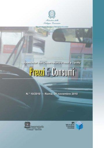 I consumi - Osservatorio Prezzi e Tariffe
