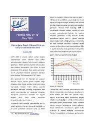 Yatırımlara Engel: Küresel Kriz ya da İş Ortamında Bozulma - EAF