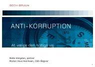 Anti-korruption og bekæmpelse af bestikkelse - Bech-Bruun