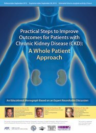 (CKD): A Whole Patient Approach - Impact Education