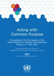 ISDR/GP/2007/7 - Acting with Common Purpose - PreventionWeb