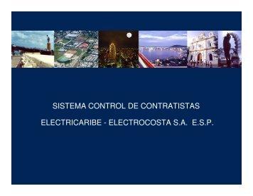 sistema control de contratistas electricaribe - electrocosta saesp