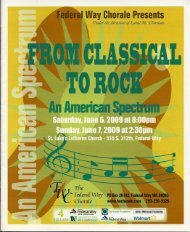 From Classical to Rock An America Spectrum - Federal Way Chorale