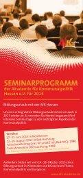 finden Sie das neue Seminarprogramm der AfK für ... - SGK Hessen