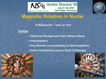 Magnetic Rotation in Nuclei - FSU Physics Department