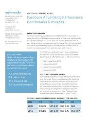 Facebook Advertising Performance Benchmarks ... - Brandchannel