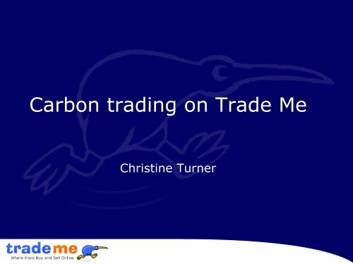Carbon trading on Trade Me
