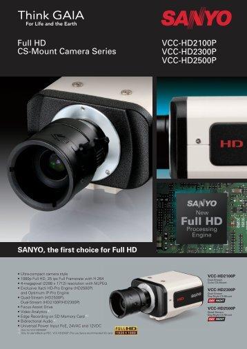 Sanyo Full HD CS-Mount Camera - IRIS CCTV