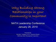 Why Building Strong Relationships in your Community is ... - NATA