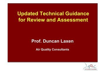 Latest on LAQM Technical Guidance - IAPSC