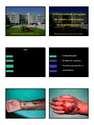 Extravasations iatrogènes de solutés cytotoxiques ou hyperosmolaires
