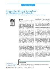 Ortodontia e Cirurgia Ortognática - do Planejamento ... - Dental Press