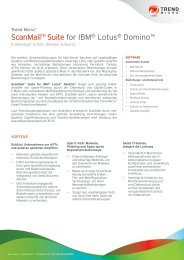 ScanMail™ Suite for IBM® Lotus® Domino™ - Insight Web Server