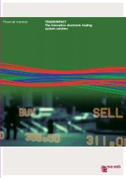 Financial markets TrAdeImpAcT The innovative electronic ... - SIA