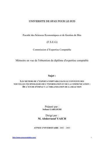 Dipl me d 39 expertise comptable et financi re decofi uemoa - Grille des salaires expertise comptable ...