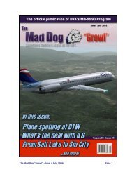 "The Mad Dog ""Growl"" –June / July 2006 Page 1 - Delta Virtual Airlines"