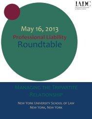 Professional Liability Roundtable - International Association of ...