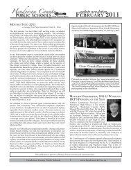 February 2011 update Newsletter - Henderson County Public Schools