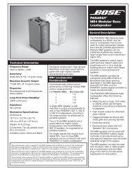 PANARAY® MB4 Modular Bass Loudspeaker - Bose
