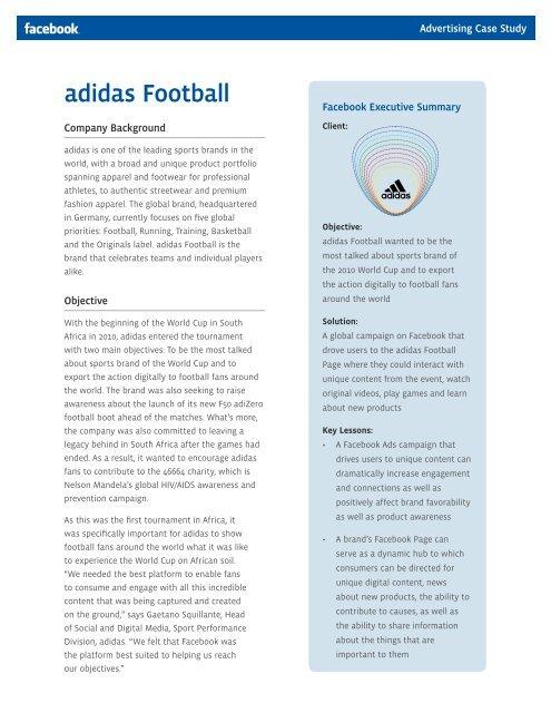Adidas Football Facebook