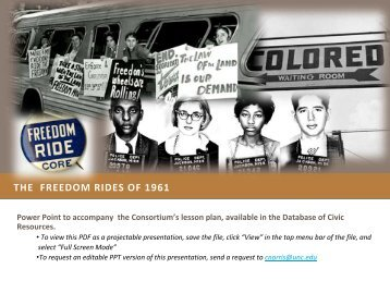 THE FREEDOM RIDES OF 1961 - Database of K-12 Resources