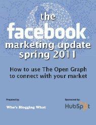 Facebook Marketing Update – Spring 2011 - TourismTechnology.com