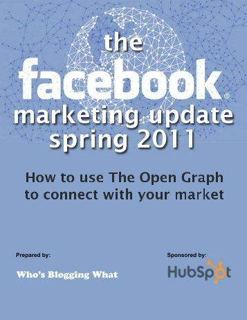 Facebook Marketing Update – Spring 2011 - TourismTechnology.com