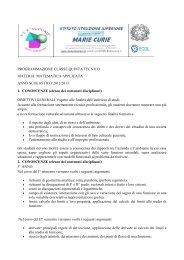 PROGRAMMAZIONE CLASSE QUINTA TECNICO ... - Sogisnc.it