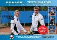 Sonderkonditionen für Mannschaften und ... - Tennis-Point.de
