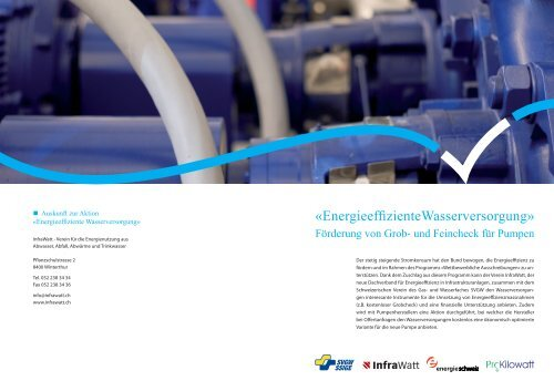 Energieeffiziente Wasserversorgung - Infrawatt
