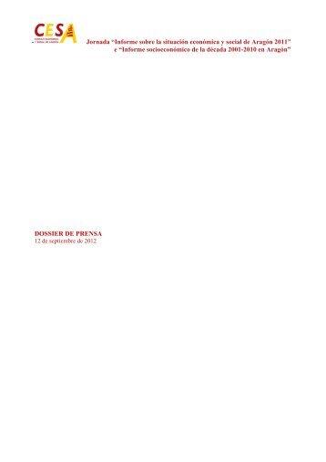 Resumen de prensa - Gobierno de Aragón