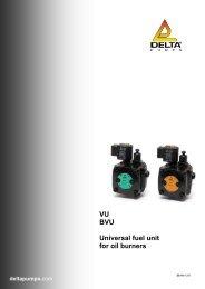 VU BVU Universal fuel unit for oil burners deltapumps.