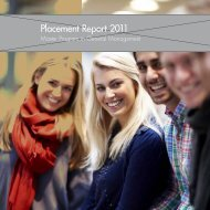 The Placement Report for the General Management Program 2011