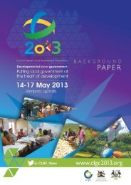 background paper - Commonwealth Local Government Forum