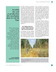 Fertilité des sols et production des eucalyptus dans le sud du Togo