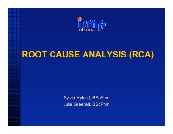 Root Cause Analysis (RCA) - ISMP Canada