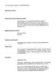 oikaisuvaatimus liitteineen - Turku