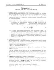 Übung 7 - Astrophysik an der Universität Potsdam