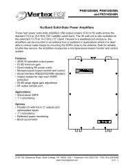 Ku-Band Solid-State Power Amplifiers PKM14S040N, PKM14S050N ...