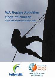 Roping Activities Codes of Practice - Outdoors WA