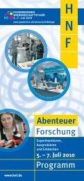 Programm Forschung Abenteuer - Heinz Nixdorf MuseumsForum