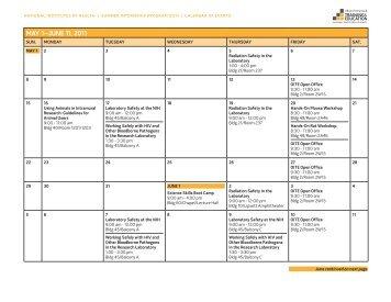 View the entire NIH Summer Internship Program calendar - Office of ...