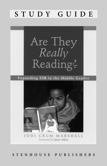 Are They Really Reading? - Stenhouse Publishers