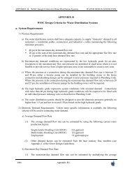 APPENDIX B WSSC Design Criteria for Water Distribution Systems ...