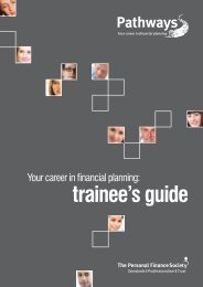 Pathways trainee guide - The Personal Finance Society