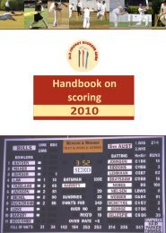 QCSA Handbook on scoring 2010 - Queensland Cricket