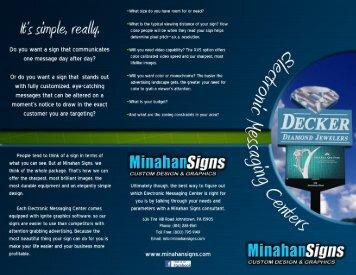 EMC Buyer's Brochure - Minahan Signs