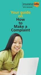 Download the booklet on making a complaint - InsuranceInfo